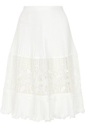 Chloé Lace-trimmed midi skirt