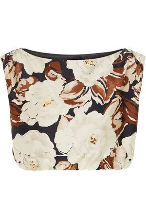 SIR Vivienne printed silk top