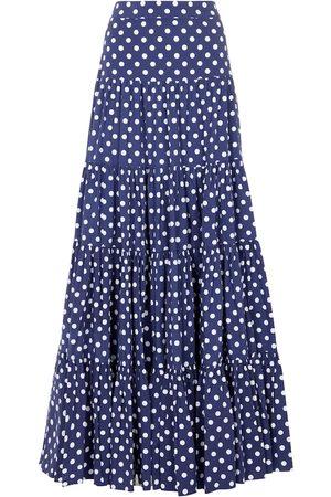 Caroline Constas Peasant polka-dot maxi skirt