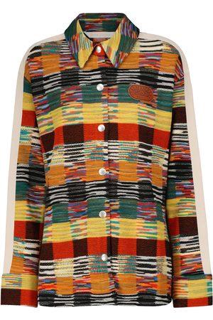 Palm Angels X Missoni wool-blend shirt