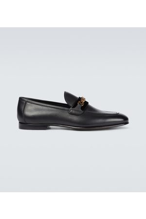 Tom Ford Leather loafers with chain