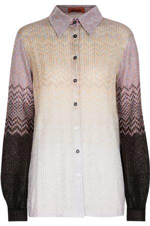 Missoni Metallic-knit shirt