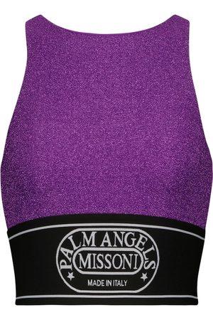 Palm Angels X Missoni metallic knit crop top
