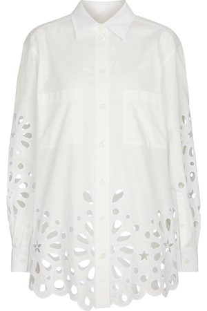 Burberry Broderie anglaise cotton shirt