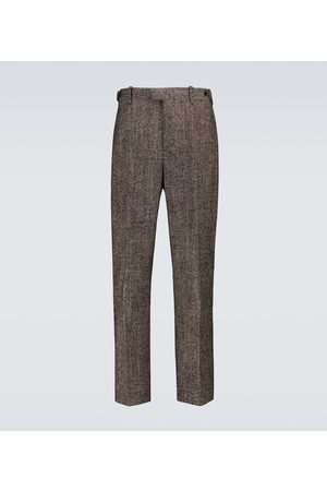 Bottega Veneta Donegal chevron wool-blend pants