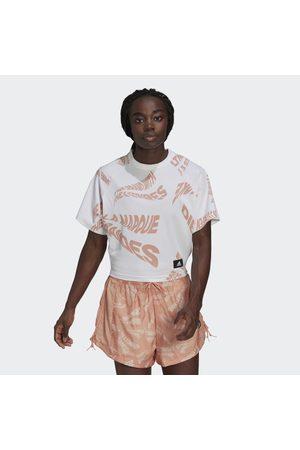 adidas Sportswear Allover Print 3-Stripes Tee
