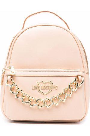 Love Moschino Heart-chain backpack