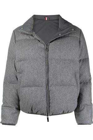 Thom Browne Naiset Untuvatakit - RWB-stripe reversible padded jacket