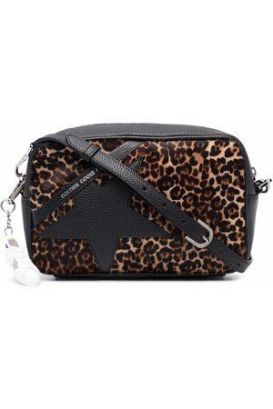 Golden Goose Leopard-print leather crossbody bag