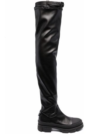 Philosophy Di Lorenzo Serafini Belted thigh-length leather boots