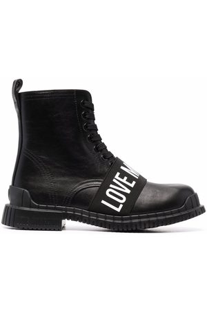 Love Moschino Logo-strap ankle boots