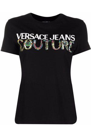 Versace Jeans Couture Naiset T-paidat - Logo-print cotton T-shirt