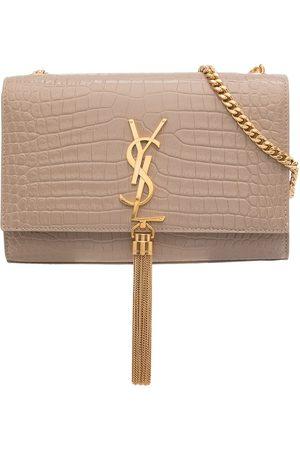 Saint Laurent Small Kate croc-effect crossbody bag