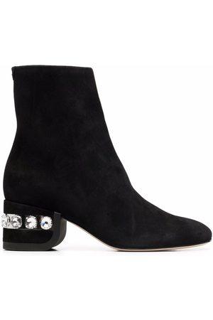 Nicholas Kirkwood JJ crystal-embellished 55mm ankle boots