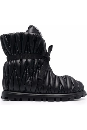 Miu Miu Naiset Nilkkurit - Quilted logo-strap ankle boots