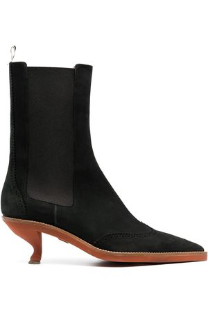 Thom Browne Brogued wing-tip chelsea boot with sculpted heel