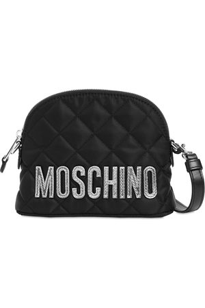 Moschino Quilted Nylon Logo Shoulder Bag