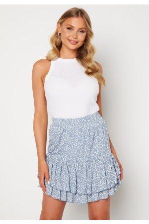 SisterS point Naiset Minihameet - Grow Skirt 410 L.Blue/Cream S