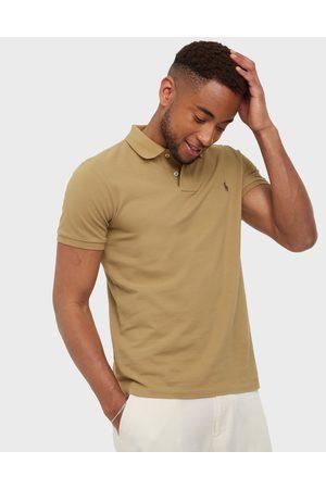 Polo Ralph Lauren Slim Fit Mesh Polo Shirt Pikeepaidat Tan