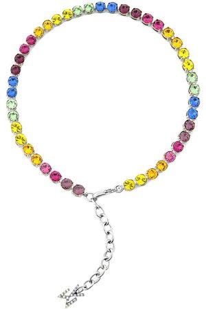 Amina Muaddi Naiset Bodyt - Rainbow crystal-embellished anklet