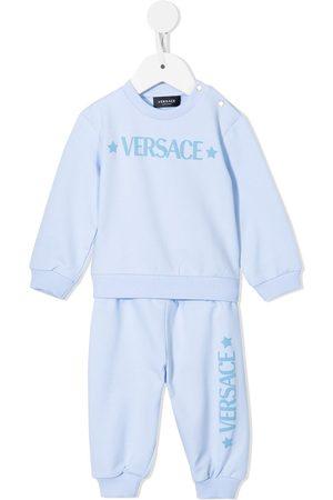 VERSACE Logo-print tracksuit set