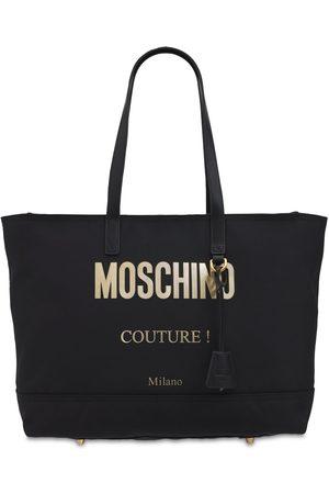 Moschino Logo Nylon Tote Bag