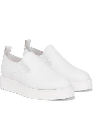 Jil Sander Leather slip-on sneakers
