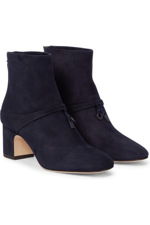 Loro Piana Maxi Charms suede ankle boots