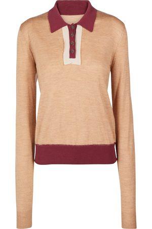 Maison Margiela Wool and cotton polo sweater