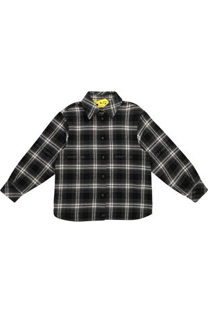 Off-White Kids Checked cotton-blend flannel shirt