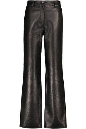MAGDA BUTRYM High-rise leather flared pants