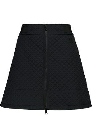 Moncler High-rise quilted miniskirt