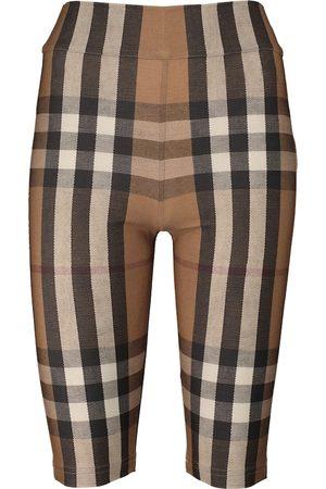 Burberry Checked biker shorts