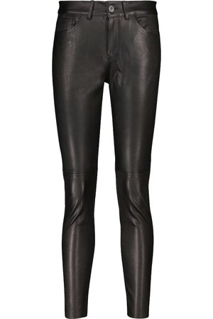 3x1 Mid-rise skinny leather pants