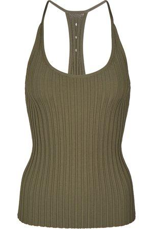Helmut Lang Slash ribbed-knit tank top