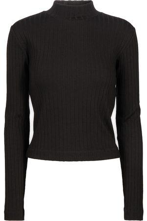 Vince Ribbed-knit mockneck sweater