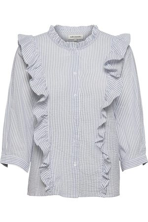 Lollys Laundry Naiset Pitkähihaiset - Hanni Shirt Pitkähihainen Paita Sininen