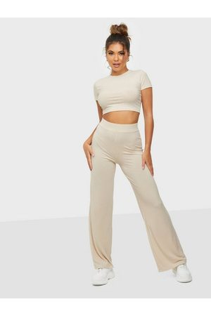 NLY Trend Ribbed Cropped Set Creme