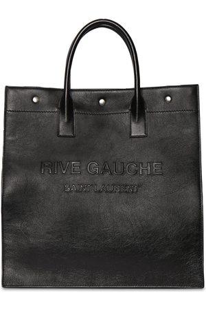 SAINT LAURENT Rive Gauche N/s Leather Tote Bag