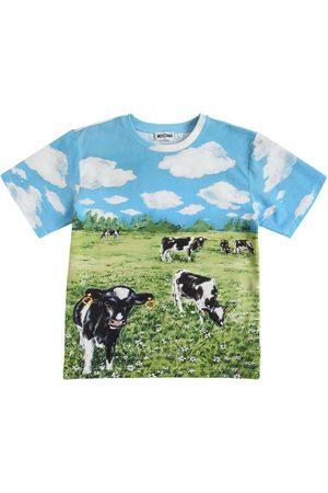 Moschino Tytöt T-paidat - All Over Print Oversize Jersey T-shirt