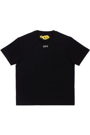 OFF-WHITE Tytöt T-paidat - Logo Print Cotton Jersey T-shirt