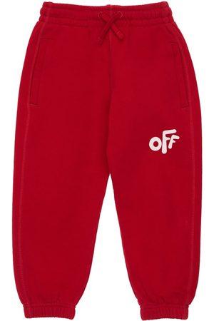OFF-WHITE Logo Print Cotton Sweatpants