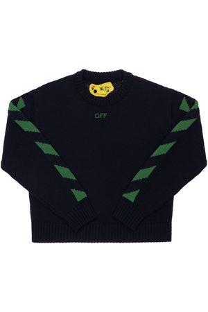 OFF-WHITE Tytöt Neuleet - Logo Wool Knit Sweater