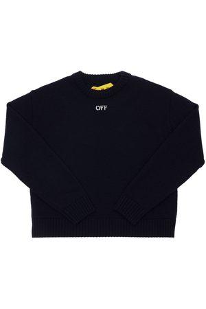 OFF-WHITE Tytöt Neuleet - Logo Jacquard Wool Knit Sweater