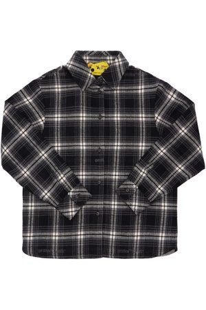 OFF-WHITE Tytöt Paidat - Check Cotton Blend Flannel Shirt
