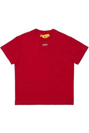 OFF-WHITE Logo Print Cotton Jersey T-shirt