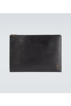 Saint Laurent Zipped leather pouch