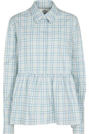 Victoria Victoria Beckham Checked peplum shirt