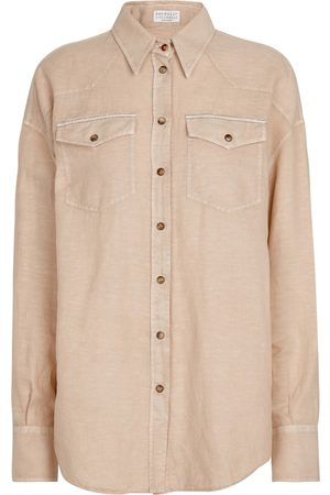 Brunello Cucinelli Exclusive to Mytheresa – Linen and cotton shirt