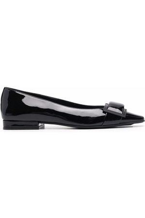 Sergio Rossi Naiset Balleriinat - Sr Twenty patent-leather ballerina shoes